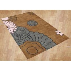 Handmade Brown Sugar New Zealand Blended Wool Rug (8' x 10')