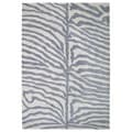 Alliyah HandmadeSafari Grey New Zeeland Blend Wool Rug (6' x 9')
