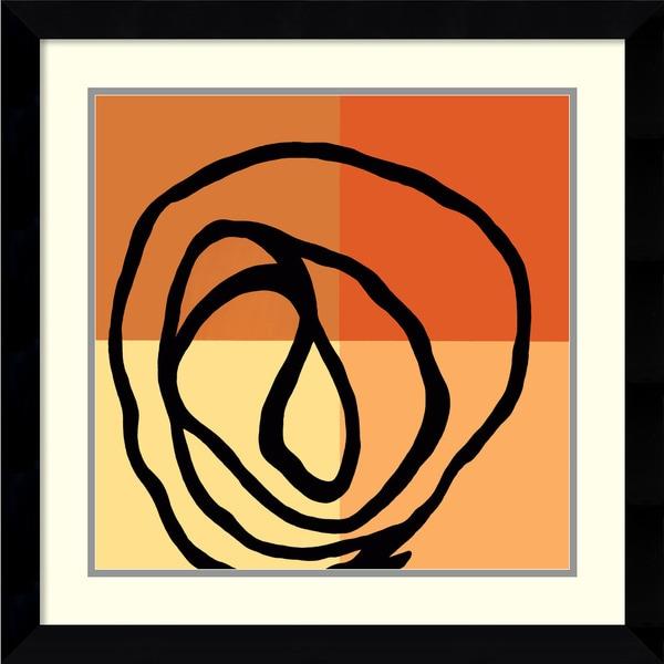 Gregory Garrett 'Swirl Pattern III' 28 x 28-inch Framed Art Print