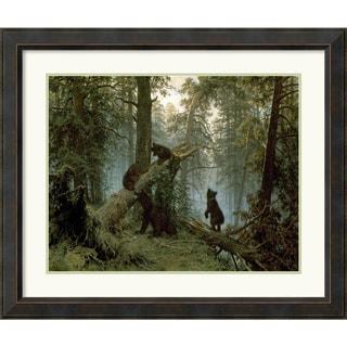 I. Shishkin 'Morning in a Pine Forest' Framed Art Print