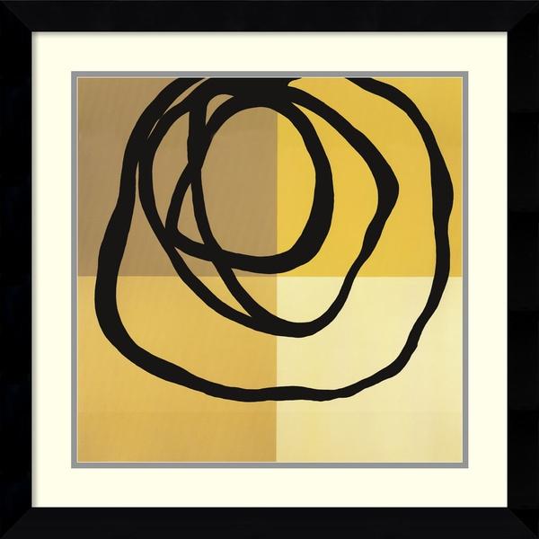 Gregory Garrett 'Swirl Pattern I' Framed Art Print