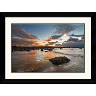 Robert Strachan 'Sailcoats Sunset' 32 x 24-inch Framed Art Print