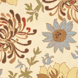 Safavieh Handmade Blossom Beige Floral Pattern Wool Rug (4' x 6')
