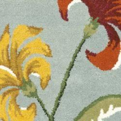Safavieh Handmade New Zealand Wool Botanical Blue Rug (2' x 3')
