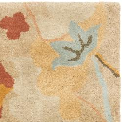 Safavieh Handmade Soho Flora Beige New Zealand Wool Rug (2' x 3')
