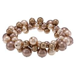 Alexa Starr Faux Brown Pearl Bracelet
