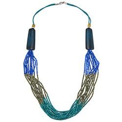 Alexa Starr Color-Blocked Bead Necklace