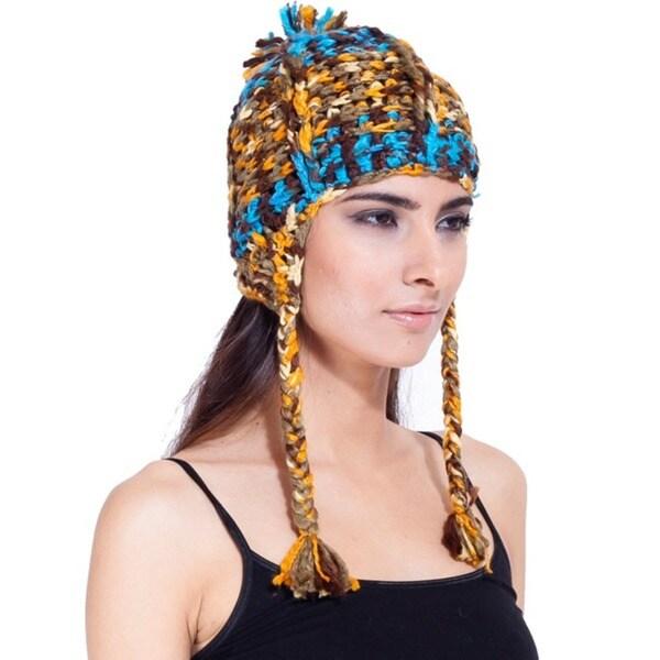 Women's Deep Blue Ocean Hat (Nepal)
