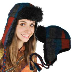 Brown Aviator Faux-fur Hat (Nepal)