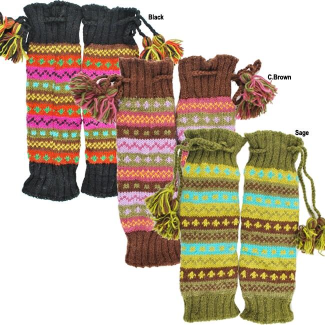 Wool Multicolor Knit Leg Warmer (Nepal)