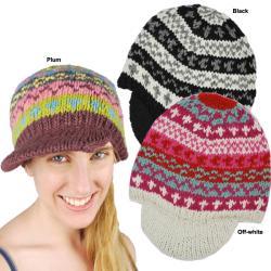 Women's Woolen Newsboy Hat (Nepal)