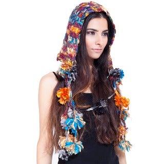 Recycled Wool Open Flower Hat (Nepal)