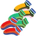 Hand-knit Adult Tri Color Booties (Nepal)