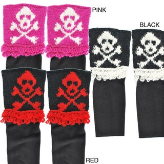 Hand-knit Women's Skeleton Boot Slips (Nepal)