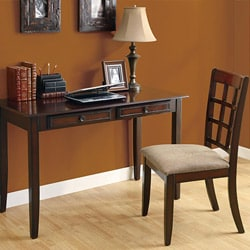 Dark Brown 48 inch Birch Desk & Chair Set