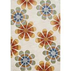 Hand-tufted Tobacco New Zealand Blend Wool Rug (5' x 8')