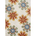 Hand-tufted Beige New Zealand Blend Wool Rug (5' x 8')