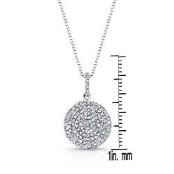 Auriya 14k White Gold 1/2ct TDW Diamond Circle Necklace (G-H, I1-I2)