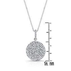 Auriya 14k White Gold 1/2ct TDW Diamond Circle Necklace (G-H, I1-I2)