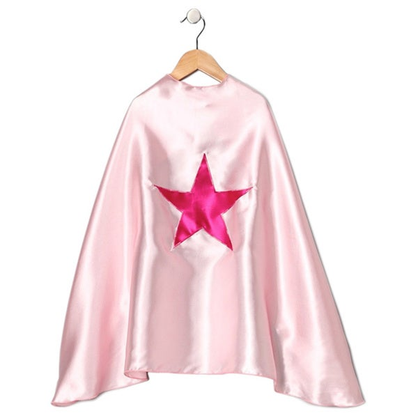 Power Capes Light Pink Fuchsia Star Superhero Cape