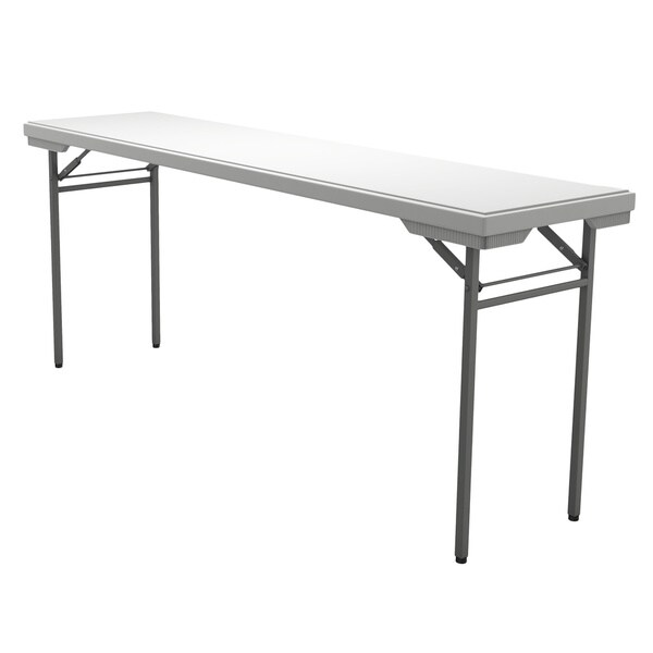 "Mayline Dark-gray/White Multi-purpose Folding Table (18"" x 72"")"