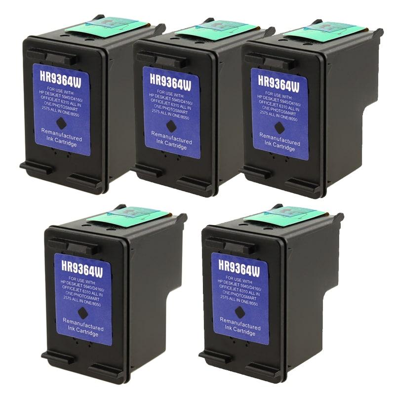 INSTEN 5-pack HP 98 Black Ink Cartridge D4160/ 2575 (Remanufactured)