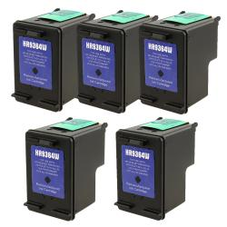 INSTEN 5-pack HP 98 Black Ink Cartridge D4160/ 2575 (Remanufactured)