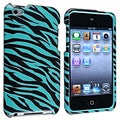 Blue Zebra Protective Case for Apple iPod Touch 4th Generation