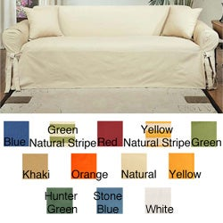 Machine-Washable Cotton Duck Sofa Slipcover