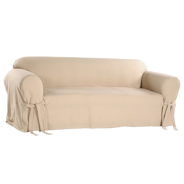 Cotton Duck Casual Fit Loveseat Slipcover 942727 Shopping Big Discounts On