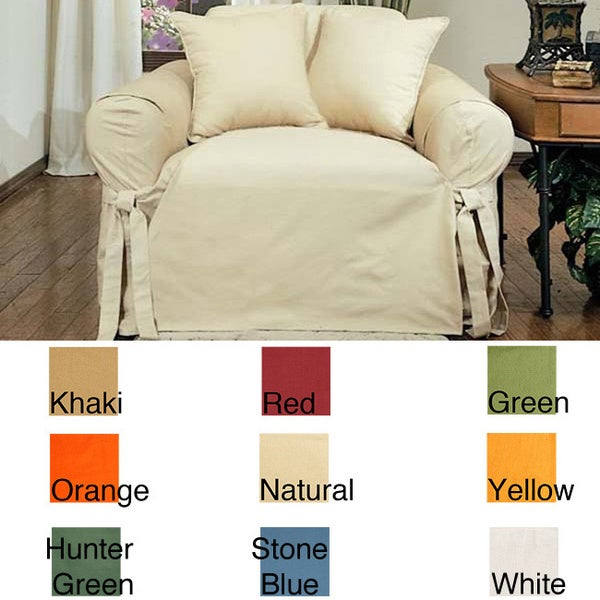 Cotton Duck Chair Slipcover