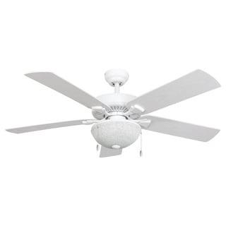 EcoSure Wharfside White Globe 52-Inch Ceiling Fan