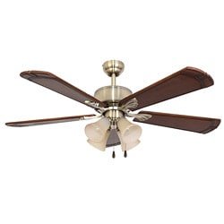 EcoSure Rumson 4-light Aged Brass 52-inch Ceiling Fan