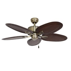 EcoSure Montego Bay Aged Brass 52-inch Ceiling Fan