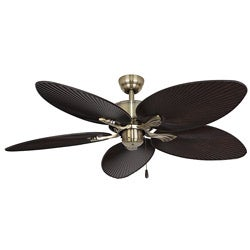 EcoSure Palm Island Aged Brass 52-inch Ceiling Fan