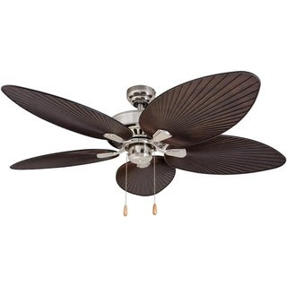 EcoSure Abaco Brushed Nickel 52-inch Ceiling Fan