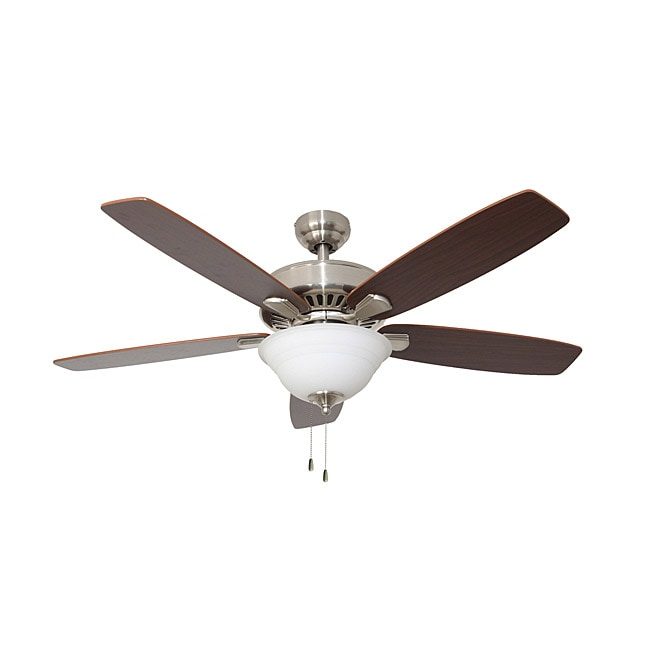 EcoSure Fair Haven Bowl Light Brushed Nickel 52-inch Ceiling Fan