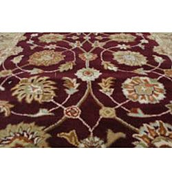 Hand-tufted Royal Garden Warm Eggplant Rug (3'3 x 5'3)
