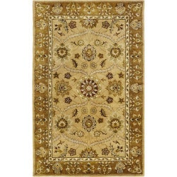 Hand-tufted Royal Garden Sunburst Beige Rug (8' x 11')