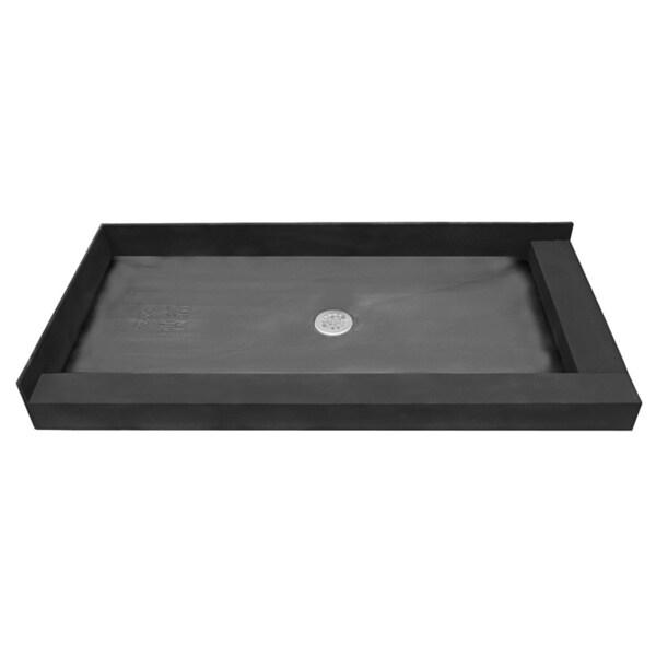 Tile Ready Double Curb Shower Pan (34 x 48 Center PVC Drain)