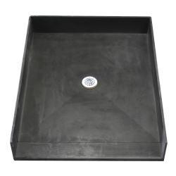 Tile Ready Shower Pan (48 x 37 Center PVC Drain)