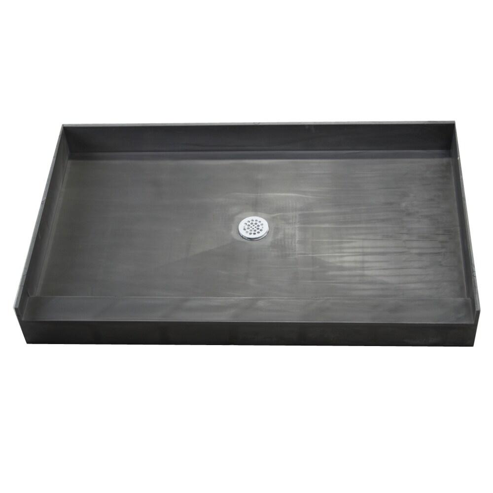 Tile Ready Shower Pan (42 x 66 Center PVC Drain)