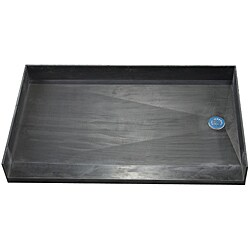 Tile Ready Shower Pan (42 x 60 Right Barrier Free PVC Drain)