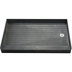Tile Ready Shower Pan 37 x 60 Right PVC Drain