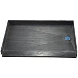 Tile Ready Shower Pan 37 x 54 Right PVC Drain