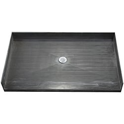 Tile Ready Shower Pan 33 x 72 Center Barrier Free PVC Drain