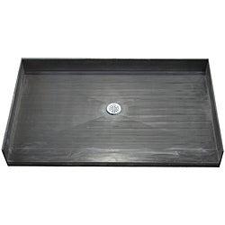 Tile Ready Shower Pan 30 x 60 Center Barrier Free PVC Drain