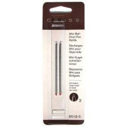 Cross Mini Ballpoint Medium Red Pen Refills (Pack of 2)