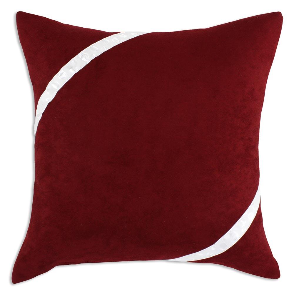 Cinnabar White Bubble Ribbon Decorative Pillow