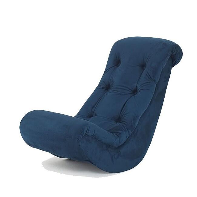 Hannah baby navy blue micro fiber banana rocker 13917847 overstock